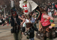 Festival Surva do disfarce em Pernik foto de stock royalty free