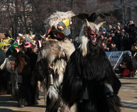 Festival Surva do disfarce em Pernik fotografia de stock royalty free