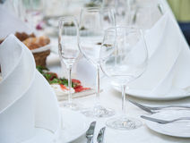 Festival table setting at the restaurant. Stock Photography