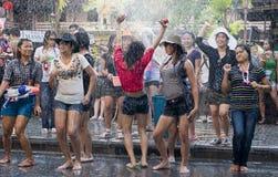 Festival tailandese di nuovo anno fotografia stock libera da diritti