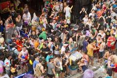 Festival tailandese di nuovo anno di Songkran Fotografie Stock Libere da Diritti