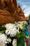Festival tailandese natale della candela Fotografia Stock