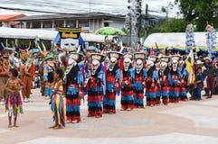 Festival tailandese variopinto Phi Ta Khon 2017 Fotografia Stock Libera da Diritti
