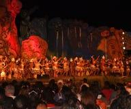 Festival Tapati Easter Island. Opening folklore festival on Rapa Nui Stock Photos