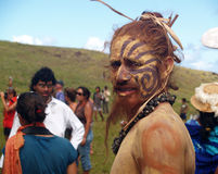Festival Tapati - het Eiland van Pasen Royalty-vrije Stock Afbeelding