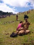 Festival Tapati - het Eiland van Pasen Stock Foto's
