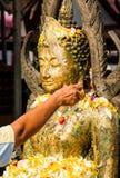 Festival in temple stock image