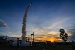 Festival thaïlandais de fusée Images stock