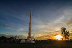 Festival thaïlandais de fusée Photo stock