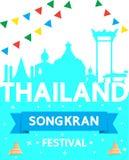 Festival Thailands Songkran ist das neue Jahr von Thailand Stockfotos