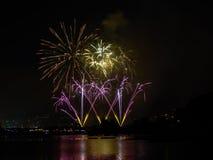 Festival tradicional da celebração na borda do mar fotografia de stock