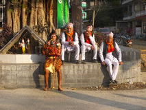 Festival tradicional de la calle, Asia Nepal Foto de archivo libre de regalías