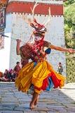 Festival tradicional en Bumthang, Bhután Foto de archivo