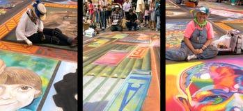 Festival tres de la tiza Imagen de archivo libre de regalías