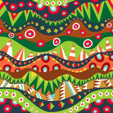 Festival Tribal Seamless Pattern Stock Image