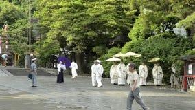 Festival at Tsurugaoka Hachimangu Shrine stock video