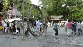 Festival at Tsurugaoka Hachimangu Shrine stock video footage