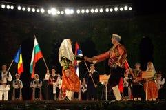 Festival turco del folclore del baile de los pares Imagen de archivo libre de regalías