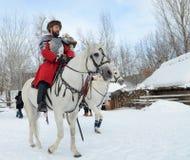 Festival of Ukrainian Cossacks in a park in Kiev, January 26, 2013 royalty free stock image