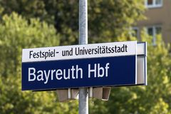 Festival and University City Bayreuth royalty free stock photography