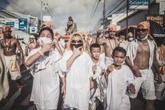 Festival végétarien de Phuket dans la province de Phuket, Thaïlande Images libres de droits