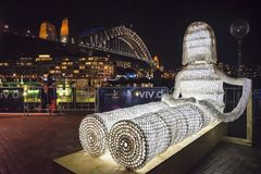 Festival vívido, escultura, Sydney, Austrália imagens de stock