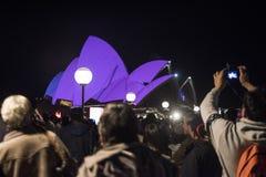 Festival vívido, Sydney 2015 Imagens de Stock Royalty Free