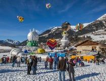 festival van de Ballon van de Hete Lucht van 2013 het 35ste, Zwitserland Stock Fotografie