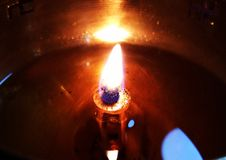 Festival van de Diwali het Lichte lamp Stock Foto's