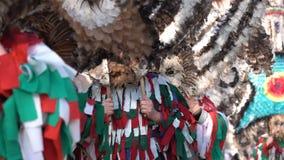 Festival van de Maskeradespelen Surva stock footage