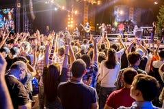 Festival van etnische muziek Forey stock foto's