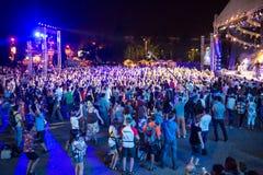 Festival van etnische muziek Forey Stock Foto