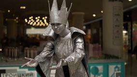 Festival van het leven standbeelden, het leven standbeeld stock footage