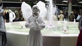 Festival van het leven standbeelden, het leven standbeeld stock videobeelden