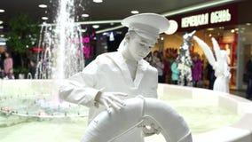 Festival van het leven standbeelden, het leven standbeeld stock video