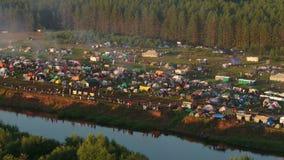 Festival van het lied van de auteur in Rusland stock video