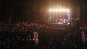 Festival van het lied van de auteur in Rusland stock videobeelden