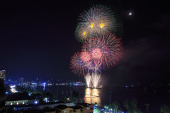 Festival van het Pattaya het Internationale Vuurwerk Stock Foto