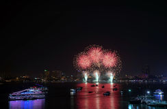 Festival van het Pattaya het Internationale Vuurwerk Stock Afbeeldingen