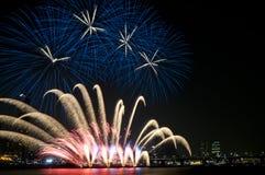 Festival van het Vuurwerk van Seoel het Internationale Stock Afbeeldingen