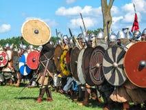 Festival van historische wederopbouw van Vikingen Royalty-vrije Stock Afbeeldingen