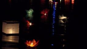 Festival van lantaarns op het water stock footage