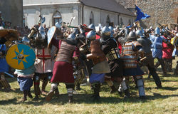 Festival van middeleeuwse cultuur stock foto's