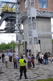 Festival van oude technologie ` Industriada ` in Silesië, Polen Stock Fotografie