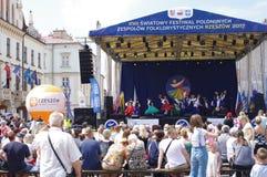Festival van Poolse Folklore stock foto