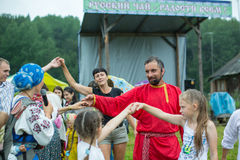Festival van volkscultuur Russische Thee Stock Foto