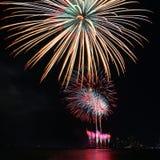 Festival variopinto del fuoco d'artificio nella celebrazione Fotografia Stock Libera da Diritti