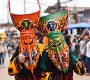Festival variopinto Phi Ta Khon 2017 della maschera Fotografia Stock