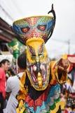 Festival variopinto Phi Ta Khon 2017 della maschera Immagini Stock