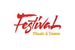 Festival vector text Stock Photography